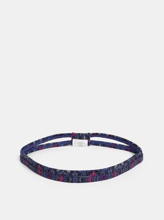Rúžovo-modrá vzorovaná čelenka prAna