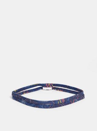 Tmavě modrá vzorovaná čelenka prAna
