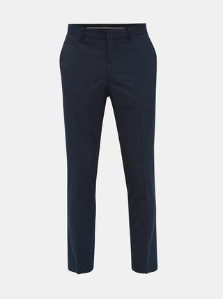 Tmavě modré pruhované slim fit kalhoty Selected Homme