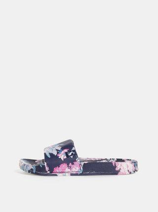 Tmavomodré dámske kvetované šľapky Tom Joule Poolside