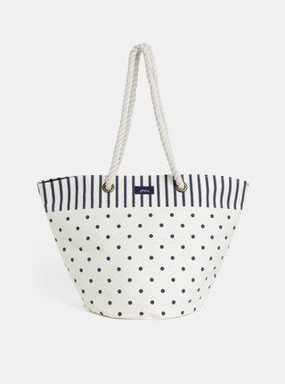 Krémová dámská puntíkovaná plážová taška Tom Joule