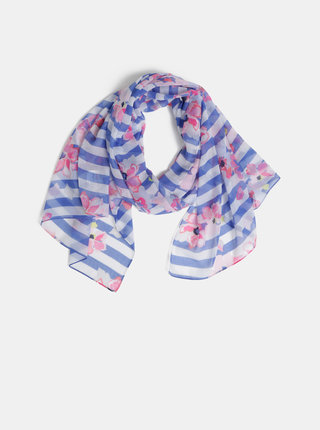 Bílo-modrý vzorovaný šátek Joules Wensley
