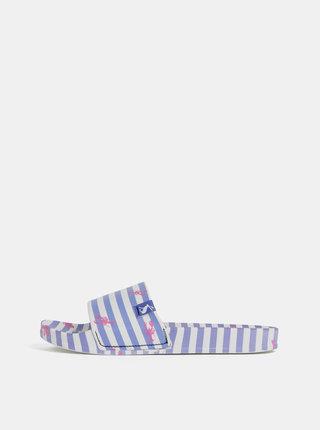 Bílo-modré dámské pruhované pantofle Tom Joule Poolside
