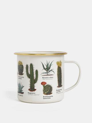 Krémový plechový hrnček Gift Republic Botanica