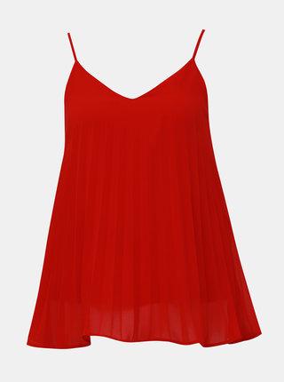 Červený plisovaný top VILA Addi