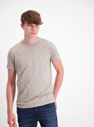 Kaki žíhané basic tričko Lindbergh