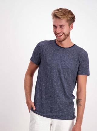 Tmavomodré pruhované basic tričko Lindbergh