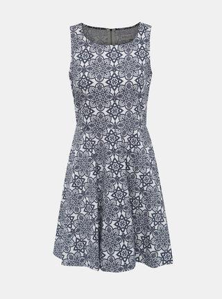 Modro-bílé vzorované šaty Apricot
