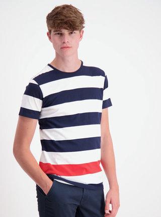 Bílo-modré pruhované tričko Lindbergh