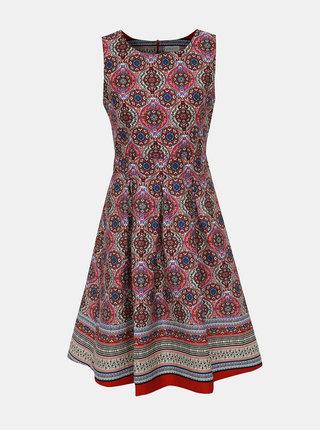 Vínové vzorované šaty Apricot