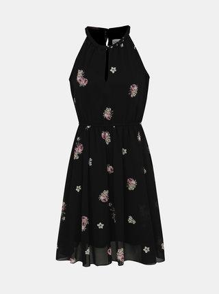 Černé květované šaty Apricot