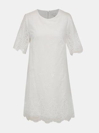 Biele šaty s madeirou Apricot