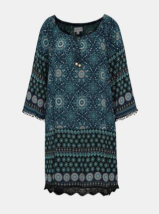Tmavomodré vzorované šaty Apricot