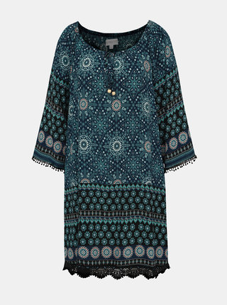 Tmavě modré vzorované šaty Apricot