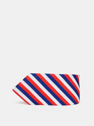 Modro-červená pruhovaná kravata Avantgard Lux