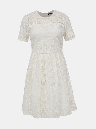 Bílé krajkové šaty VERO MODA Honey