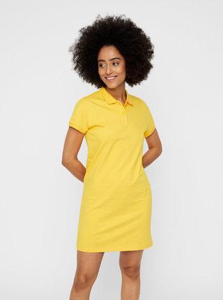 Žluté basic šaty Noisy May