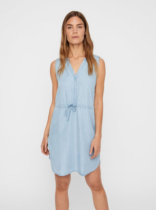 Světle modré šaty Noisy May Endi