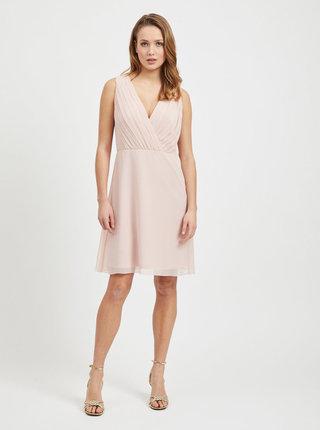 Svetloružové šaty VILA Alli