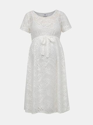Biele krajkové tehotenské šaty Mama.licious Yosie