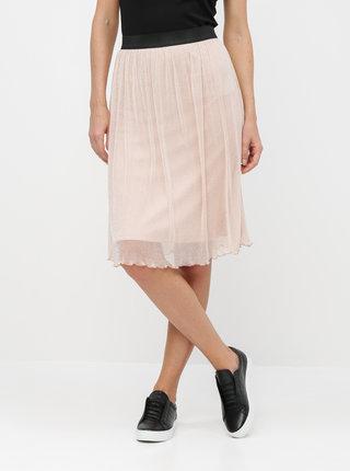 Světle růžová sukně s metalickými vlákny VERO MODA Aurora