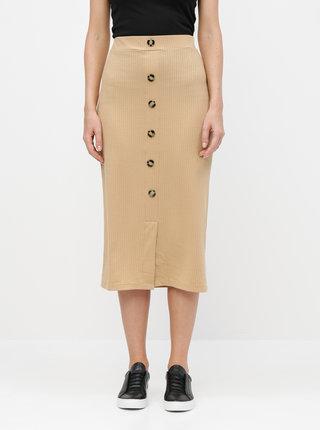 Béžová pouzdrová sukně TALLY WEiJL