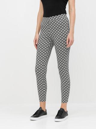 Čierne vzorované skinny fit nohavice Dorothy Perkins