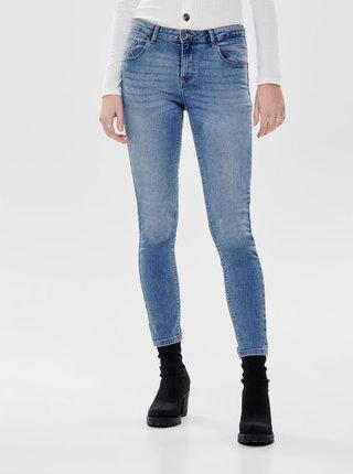 Modré zkrácené push up skinny džíny ONLY Daisy