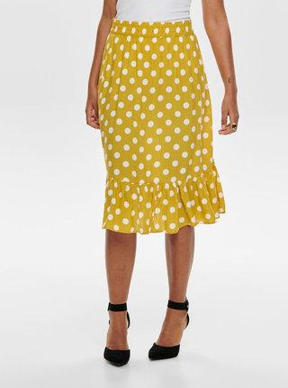 Žltá bodkovaná sukňa Jacqueline de Yong Star