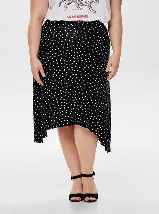 Čierna bodkovaná sukňa ONLY CARMAKOMA Dorianne