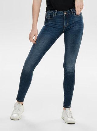 Modré skinny fit džíny s nízkým pasem ONLY Buum