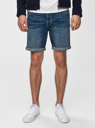 Pantaloni scurti albastri din denim Selected Homme Halex