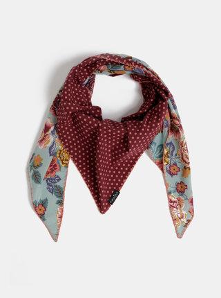 Vínový dámský vzorovaný šátek Fraas