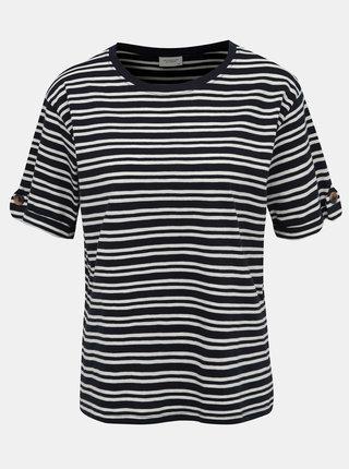 Tmavomodré pruhované tričko Jacqueline de Yong Lucky