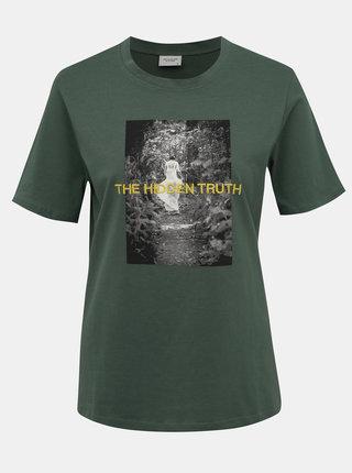 Zelené tričko s potiskem Jacqueline de Yong Christy