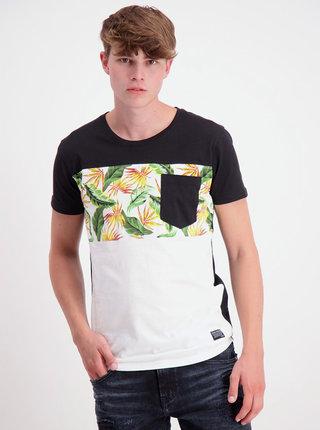 Biele vzorované tričko Shine Original