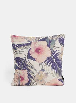 Fialovo-růžový květovaný polštář Butter Kings