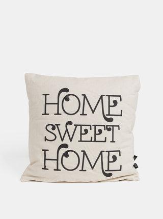 Béžový polštář s motivem HOME SWEET HOME Butter Kings