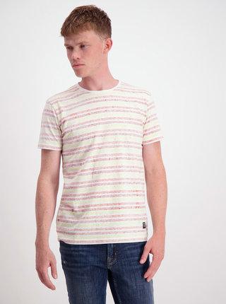 Červeno-bílé pruhované tričko Shine Original