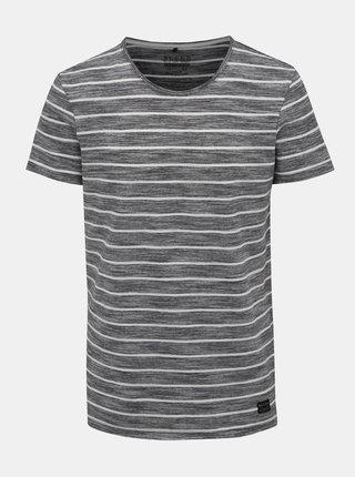 Bílo-černé pruhované tričko Blend