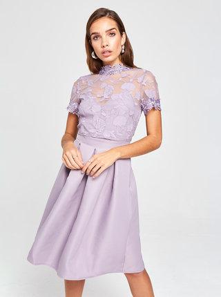 Světle fialové šaty s krajkou Little Mistress