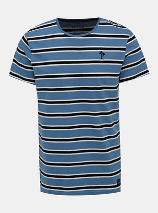 Modré pruhované tričko s výšivkou Blend