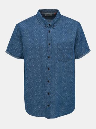 Modrá rifľová bodkovaná košeľa Blend