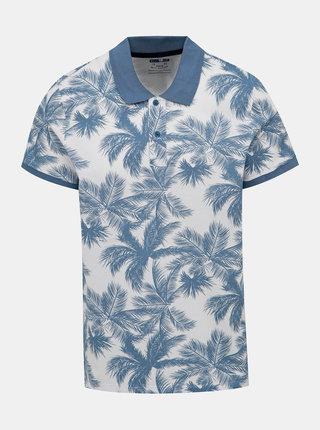 Modro-biele vzorované polo tričko Blend