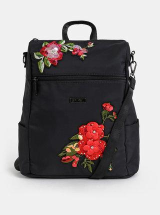 Čierny dámsky kvetovaný batoh/kabelka Spiral Agenda