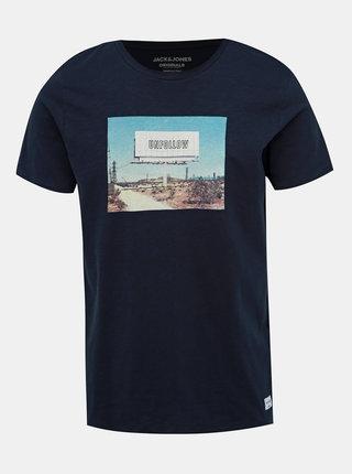 Tmavomodré tričko Jack & Jones Renzu