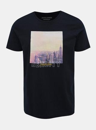 Tmavomodré tričko Jack & Jones Huward