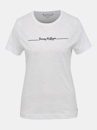 Bílé dámské tričko s potiskem Tommy Hilfiger Elissa