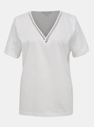 Biele dámske tričko Tommy Hilfiger Elfie