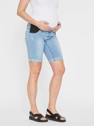 Pantaloni scurti albastri din denim pentru femei insarcinate Mama.licious Lola